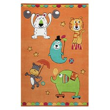 Handgetufteter Teppich Smart Kids in Orange