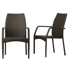 Herod Stacking Dining Arm Chair (Set of 2)