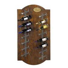 French Accents 16 Bottle Wall Mounted Wine Rack