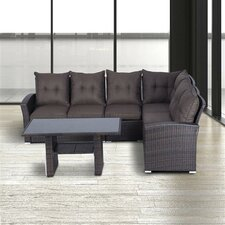 5-Seater Sectional Sofa-Set Outsunny with Cushions