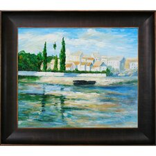 Carrieres Saint Dennis by Claude Monet Framed Painting