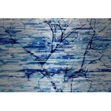 'Blue Snow Storm' by Parvez Taj Painting Print on Brushed Aluminum