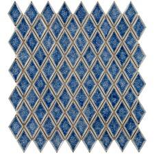 "Interval 1"" x 2"" Ceramic Mosaic Wall Tile in Diamond Azure Blue"
