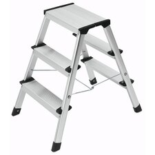 Hailo L 90 3-step Aluminium Ladder
