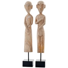 2 Piece Museo African Museum Statue Set
