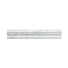 "Bianco Carrara 2"" x 12"" Marble Crown Molding Tile (Set of 10)"