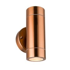 Palin 2 Light Flush Wall Light in Copper Tinted Lacquer