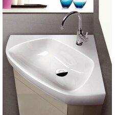 """Arda Ceramic 25.3"""" Wall Mounted Bathroom Sink"""