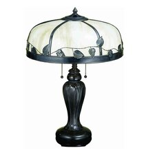 "Arts and Crafts Leaf 25"" Table Lamp"