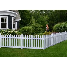 Newport 3' x 5.9' Picket Yard Fence