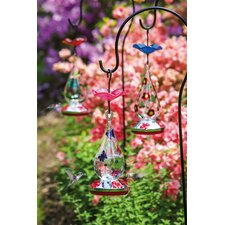 3 Piece Oblong Hummingbird Feeder Set