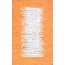 Munegu Handmade Orange/White Area Rug