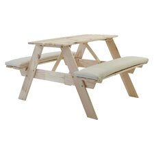 Visby Children's Picnic Bench with Cushions