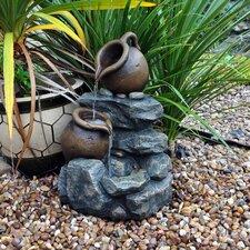 Stone 2 Jug Rock Garden Water Fountain