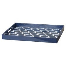 quick view moroccan trelli rectangular serving tray - Decorative Tray