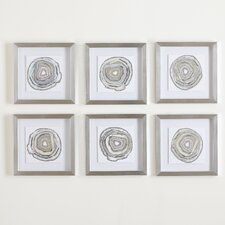 geodes framed prints set of 6