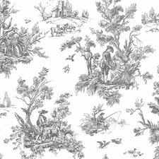 "Abby Rose III 32.7' x 20.5"" Toile Wallpaper"