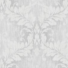 "Vintage Damask 32.7' x 20.5"" Woven Wallpaper Roll"