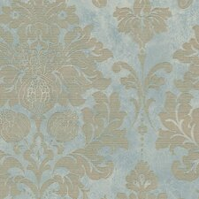 "Silk Impressions 32.7' x 20.5"" In Reg Damask Wallpaper Roll"