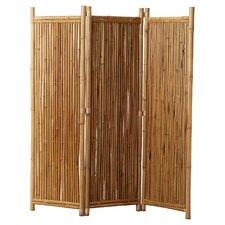 "Porter 63"" x 60"" 3 Panel Bamboo Room Divider"