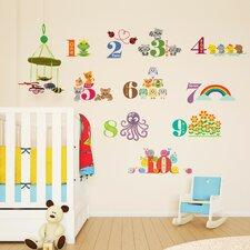 Children Home Animals Numbering Wall Sticker
