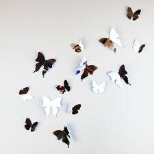 3D Mirror Butterflies Wall Sticker