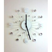 "20"" Crystal Modern Wall Clock"