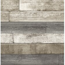 "Weathered Plank 2' x 20.5"" Brick Wallpaper"