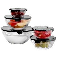 Wayfair Basics Glass 5 Container Food Storage Set