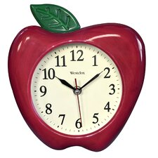 "10"" 3D Red Apple Wall Clock"