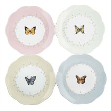 "4 Piece Butterfly Meadow 8"" Dessert Plate"