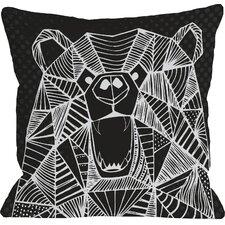 Geo Bear Throw Pillow