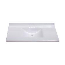 "Center Wave Bowl 37"" Single Bathroom Vanity Top"