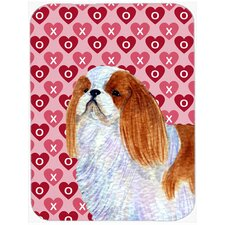 Valentine Hearts English Toy Spaniel Hearts Love and Valentine's Day Glass Cutting Board