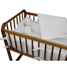 White Pique Cradle Bedding Set