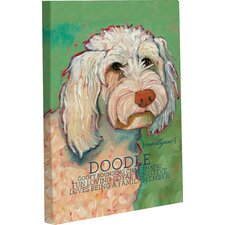 Doggy Decor Doodle 1 Painting Print on Wrapped Canvas