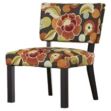 Kaitlyn Floral Print Fabric Slipper Chair