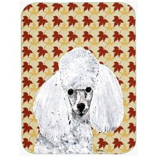 Fall Leaves Toy Poodle Glass Cutting Board