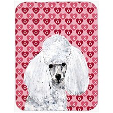 Toy Poodle Hearts and Love Glass Cutting Board