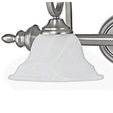 """White 8"""" Glass Bowl Wall Sconce Shade"""