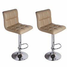 Sandidge Adjustable Height Swivel Bar Stool (Set of 2)