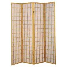 "Freese 70"" x 69.5"" Shoji 4 Panel Room Divider"