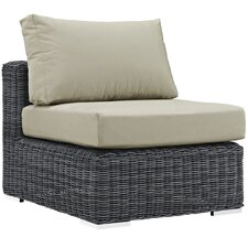 Summon Outdoor Patio Armless Chair with Cushion