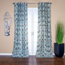 Tunisia Paisley Semi-Sheer Grommet Single Curtain Panel