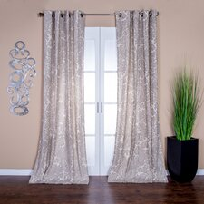 Bazaar Paisley Semi-Sheer Grommet Single Curtain Panel