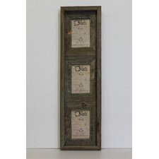 Barn Wood Vertical 3 Opening Collage Picture Frame