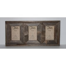 rustic barn wood 3 opening collage picture frame