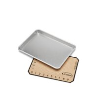2 Piece Small Baking Sheet and Mat Set