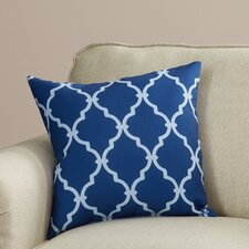 reuter trellis polyester throw pillow - Blue Decorative Pillows