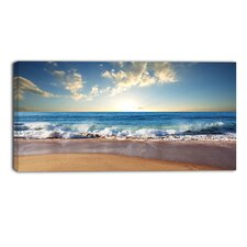 Sea Sunset Seascape Photographic Print on Wrapped Canvas